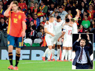 UEFA Nations League: Gareth Southgate's England prove mettle with 3-2 win over Spain