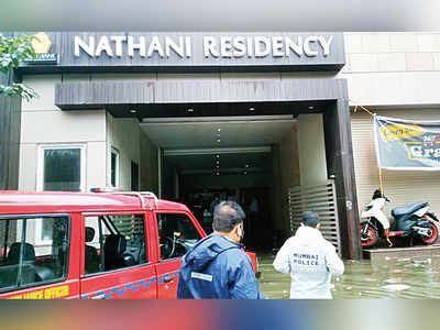 Two guards die in flooded lift