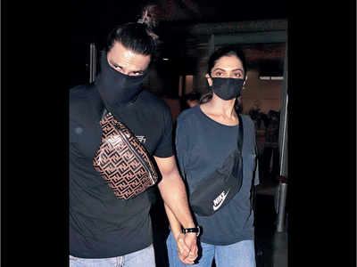 Deepika Padukone, Ranveer Singh back after trip to Bengaluru