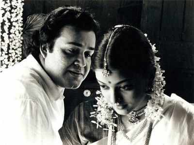 Throwback Thursday: Mohanlal and Aishwarya Rai Bachchan in a still from Iruvar