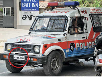 Who will police the city police: Ahmedabad Police yet to install HSRP plates in 700 vehicles