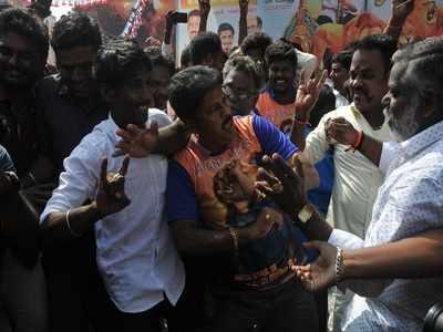 Rajinikanth, Ajith Kumar fans gung ho as their films hit screens
