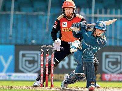 Mumbai Indians crush Sunrisers Hyderabad by 34 runs in Sharjah; Quinton de Kock finally delivers with 67