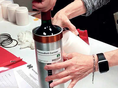 French wine sent into space for ageing tests