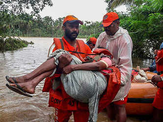 'Biggest-ever operation': Over 10,000 rescued by NDRF in flood-hit Kerala