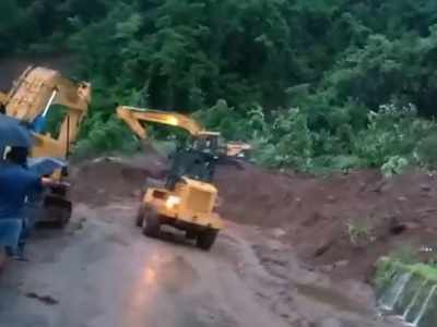 Mumbai-Goa Highway closed due to landslide