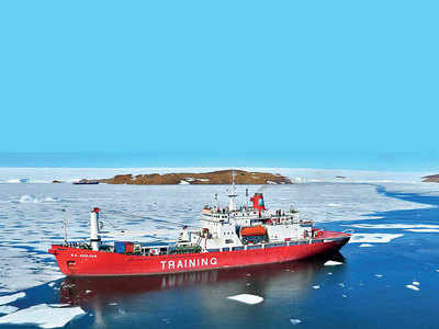 City scientists on a research cruise to the Antarctic Ocean