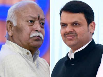 Devendra Fadnavis meets RSS boss in Nagpur as Sena remains defiant