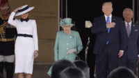 Melania Trump meets Queen Elizabeth, captures attention with 'power white' skirt