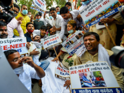 Congress holds protests against Centre's decision to conduct NEET-JEE exams in September