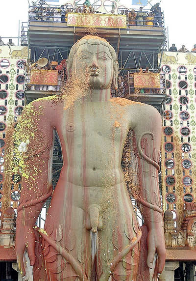 Bahubali in fibre avatar at Lalbagh flower show