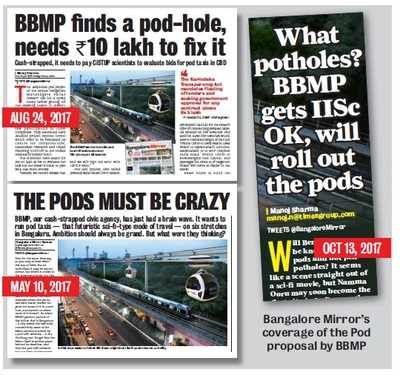 Bengaluru: Tender plea for a Pod