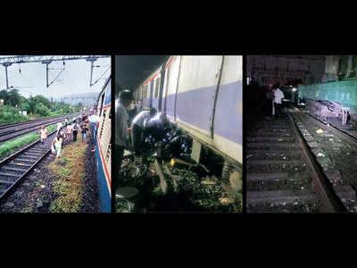 Two derailments disrupt Central Railway services