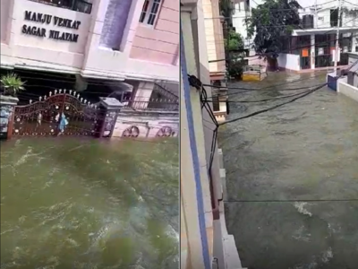 Hyderabad: Second wave of heavy rain lash parts of the city, several colonies remain submerged