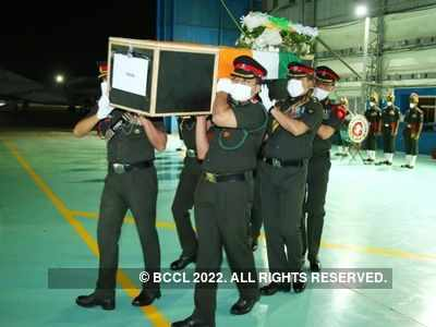 India-China standoff: Colonel Santosh's mortal remains flown to Hyderabad; funeral on Thursday