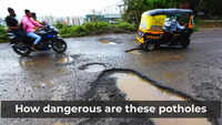 Pune: Huge potholes at Paud Road in Bavdhan after continuous rain in the city