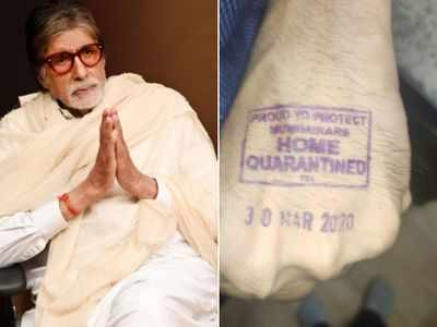 Big B shares picture of home quarantine stamp