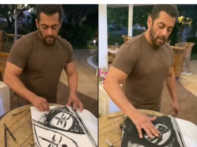 Watch: Salman Khan hums to Kaho Na Pyaar Hai as he sketches in his free time