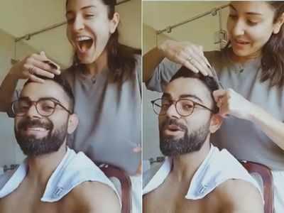 Quarantine scenes: Anushka Sharma turns hairstylist for Virat Kohli, watch video