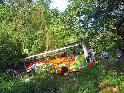 5 dead, 23 injured as bus falls into a ditch