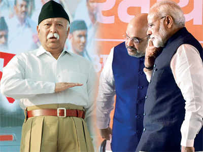 Parivar tastes power: Made wiser by the 2004 defeat, the RSS and the BJP are working closely in the run-up to the 2019 polls