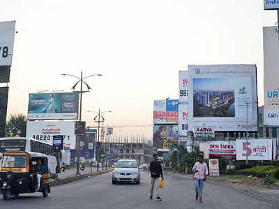 Illegal hoardings at Rajiv Gandhi IT park at risk of collapsing, reveals MIDC