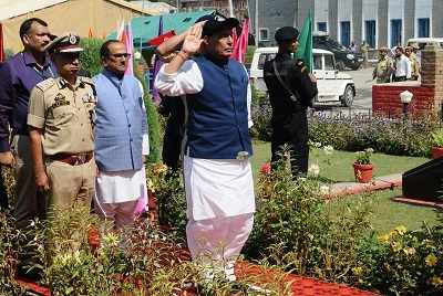Rajnath Singh praises Jammu and Kashmir Police, says they are born with unassailable and unmatched courage