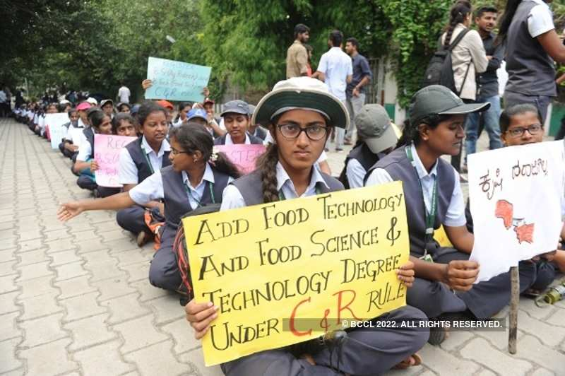 Students stage protest against private college
