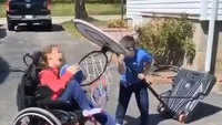 Heartwarming! Brother helps specially-abled sister score a basket