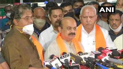 Karnataka news: Senior BJP leaders congratulate Basavaraj Bommai after party picks him as next CM