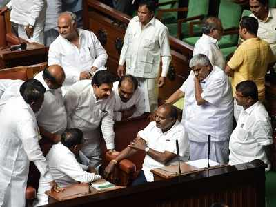 Karnataka crisis: Amid high drama, House adjourned without floor test, BJP sits on 'dharna'