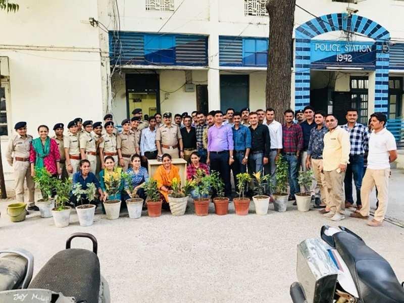 Navrangpura cops celebrate sanitation worker's birthday on World Environment Day