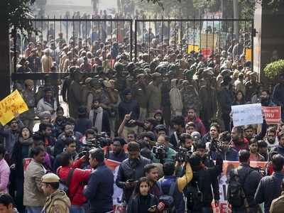 MHRD calls removal of JNU Vice Chancellor 'not a solution', students continue agitation