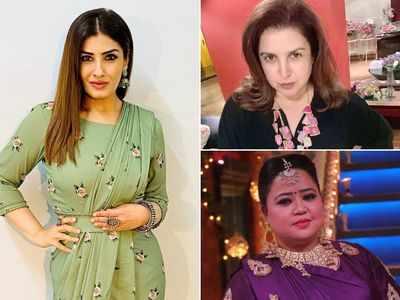 Man Seeks Arrest Of Raveena Tandon Farah Khan And Bharti Singh For Hurting Religious Sentiments