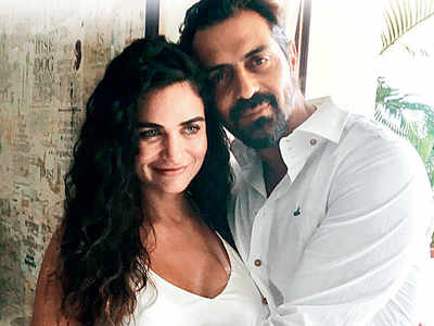At Gabriella Demetriades' baby shower, Arjun Rampal speaks on how he has reached a happy zone