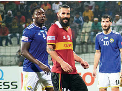 East Bengal hold Real Kashmir to a 1-1draw