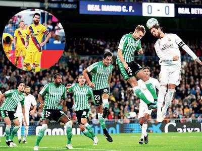Real Madrid fail to take top spot as match against Real Betis ends in goalless draw