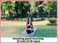 Kneeling good morning