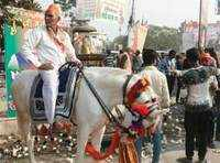 Meet the Modi fan who rode to Kanpur rally venue on his horse