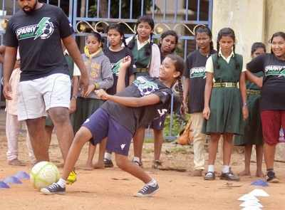 These Bengaluru schoolgirls can prove that when it comes to football, you don't always need fancy studs to get going