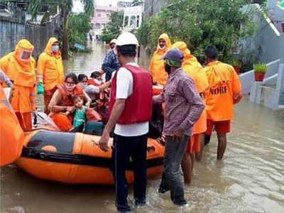 Incessant rains continue to lash Andhra Pradesh, Telangana