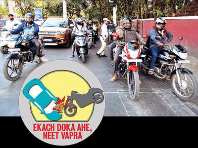 Pune gets its helmet on, rebels fail to evade fines