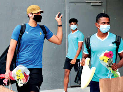After cricketers, Indian swimmers land in Dubai for Olympic training