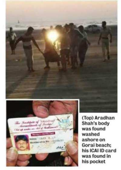CA's body found on Gorai beach