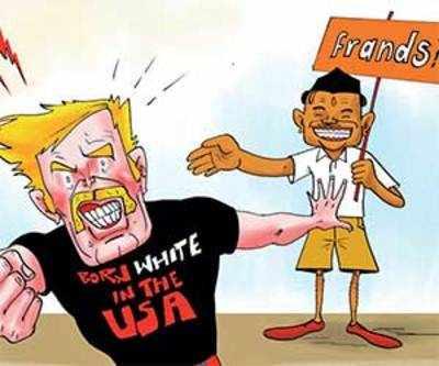 When Saffron Nationalist met White Nationalist