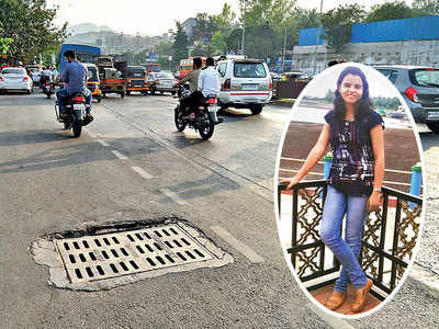 Week after death of 25-yr-old, cop revisits spot, sees pothole killed her