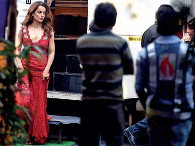 Battle of wits: Kangana Ranaut spotted on the sets of talent show with Karan Johar, Rohit Shetty