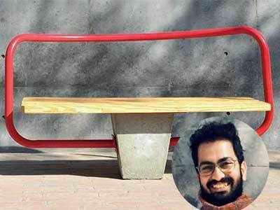 CEPTian Aliakbar Gulam Husainwala beats participants form 68 countries to win urban furniture design award