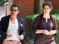 Robert Vadra reaches Jaipur ED office, Priyanka Gandhi shows support