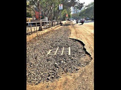 Broken Bavdhan road irks citizens
